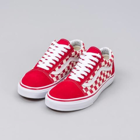 Vans Shoes | Vans Red Checkered Old